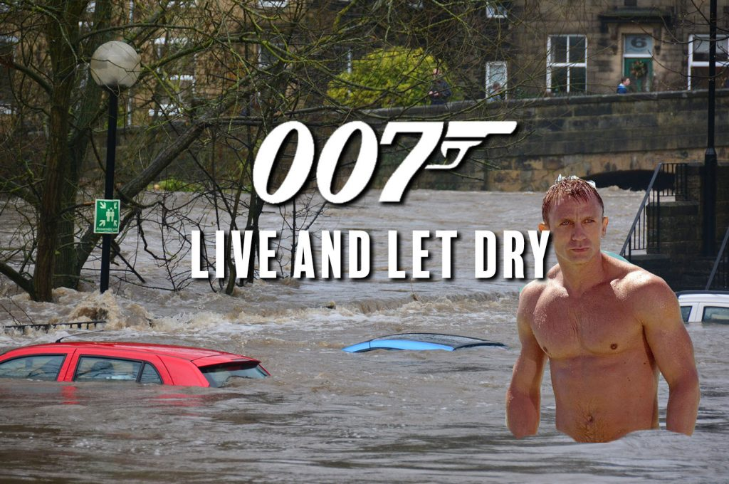 Leaked script confirms Bond will take on UK's flood risk in 25th film Live and Let Dry