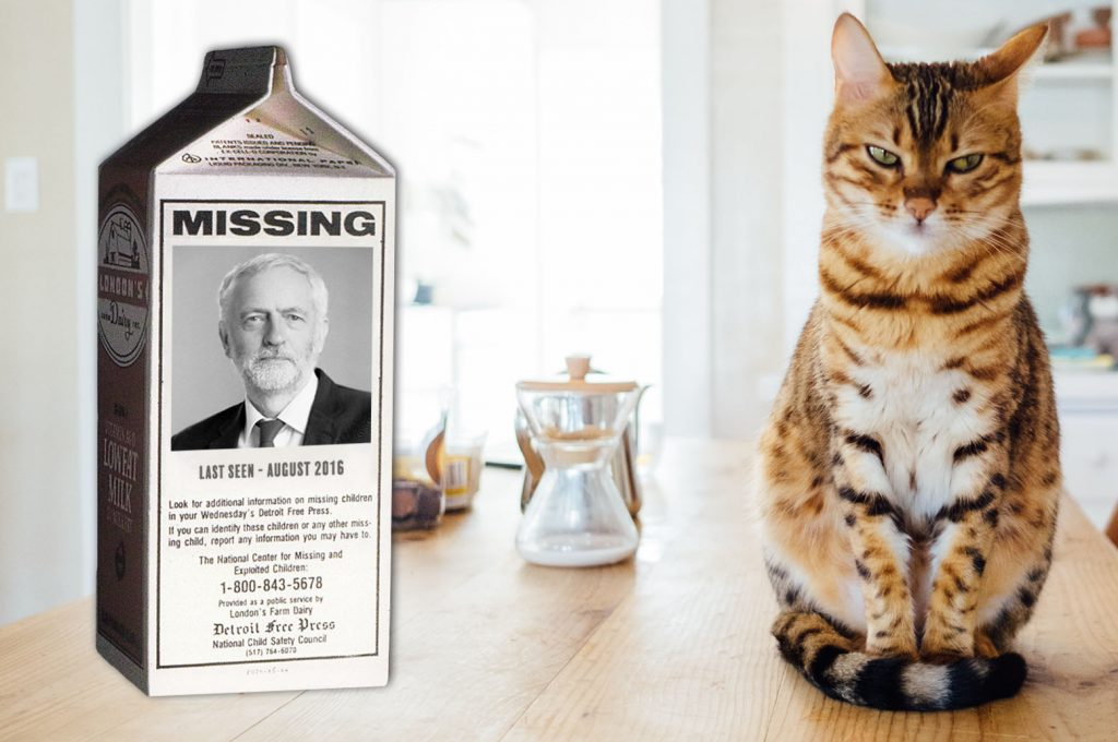 Corbyn tables motion of no confidence in government. Police can finally close his missing persons file.