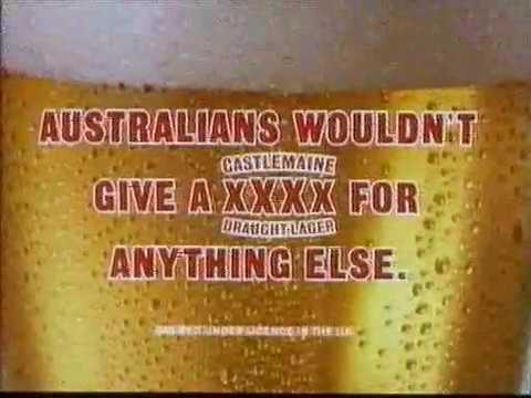 Castlemaine XXXX 4X Funny 80s Advert beer