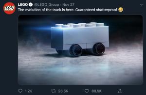 Funny Advert - Lego vs Tesla - 2019