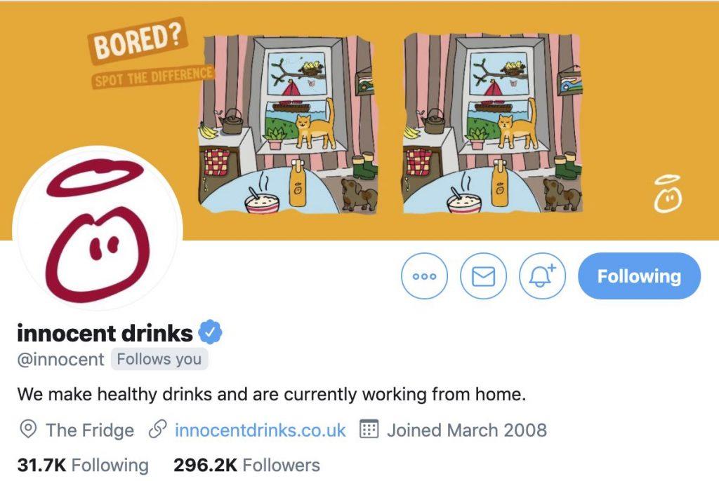 Innocent Drinks Twitter Header Image