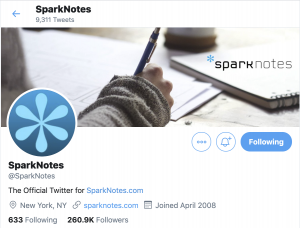 sparknotes twitter header