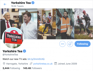 Yorkshire Tea Twitter Header