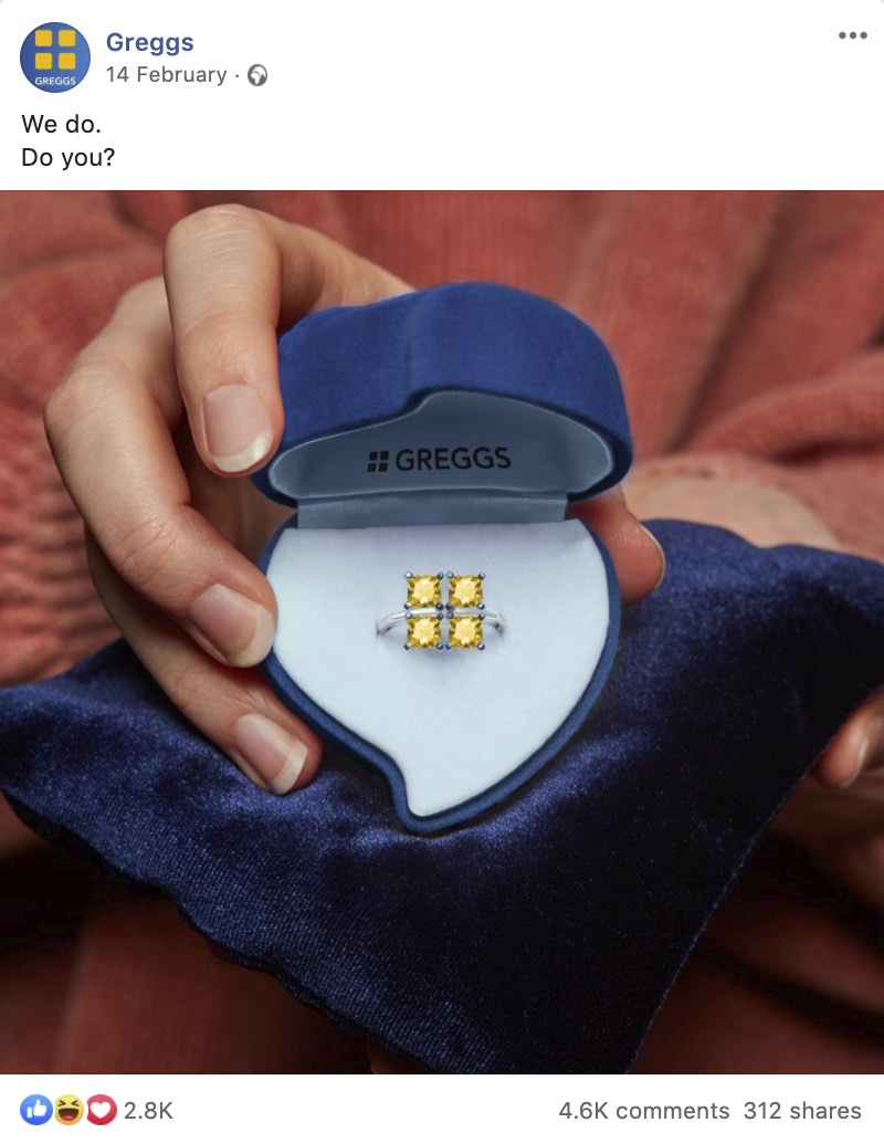 Greggs takes Valentines Day content by storm