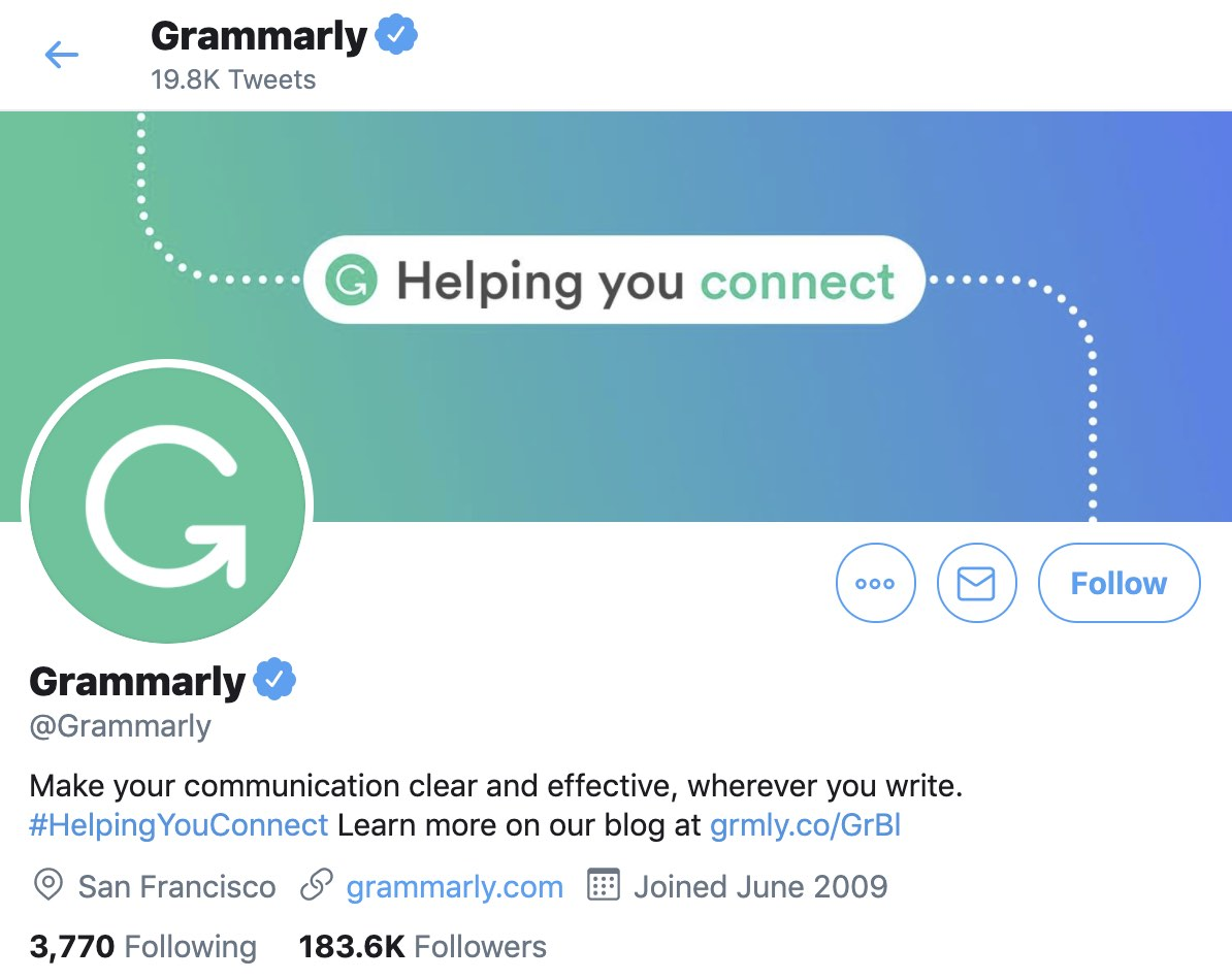 Grammarly Twitter Header