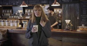 Image of shocked customer from the 2020 McDonald's funny advert for coffee